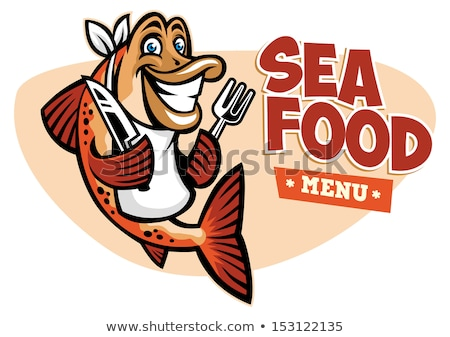 Cartoon Knife and Fork Food Mascots Stock photo © Krisdog