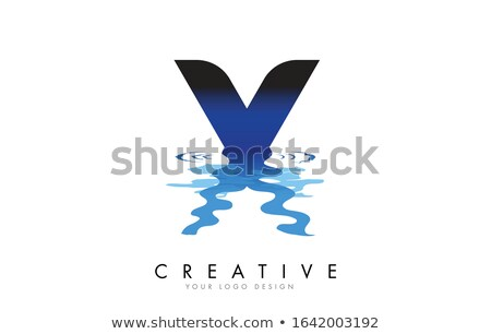 創造 液体 値下がり 手紙 ロゴデザイン ブランド ストックフォト © DavidArts