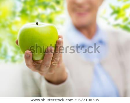女性 · 手 · 緑 · リンゴ · 明るい · 画像 - ストックフォト © deandrobot