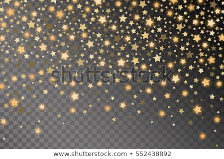 Isolated Gold paper Christmas Star on transparent background. Vector illustration. stock photo © articular