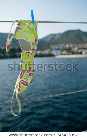 Бикини Top линия парусного лодка женщины Сток-фото © IS2