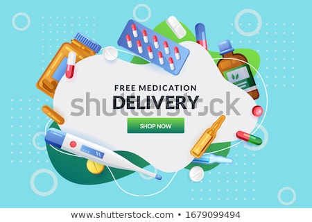 medical services banner and frame stock photo © -talex-