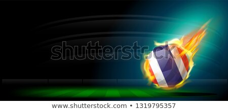 Football in flames with flag of thailand Stock photo © MikhailMishchenko
