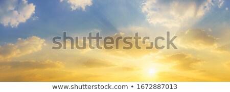 Luzes céu belo nascer do sol profundo Foto stock © hamik