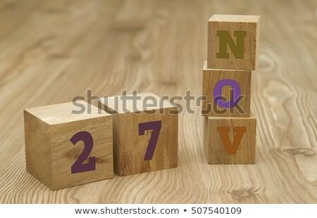 Cubes 27th November Stock photo © Oakozhan