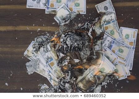 Burning Pile of Cash Stock photo © blamb