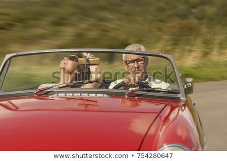çift spor araba araba adam seyahat Stok fotoğraf © IS2