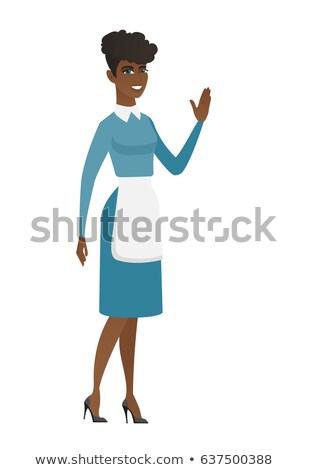 Stockfoto: Afro-amerikaanse · zakenvrouw · hand · cartoon · business