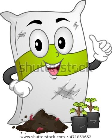 талисман удобрение мешок иллюстрация Постоянный саженцы Сток-фото © lenm