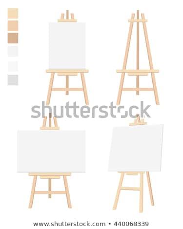 Sztaluga płótnie wektora cartoon ilustracja odizolowany Zdjęcia stock © RAStudio