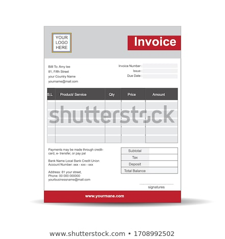 elegant blue gray vector invoice template design stock photo © sarts