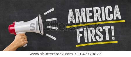 A man holding a megaphone - America first Stock photo © Zerbor