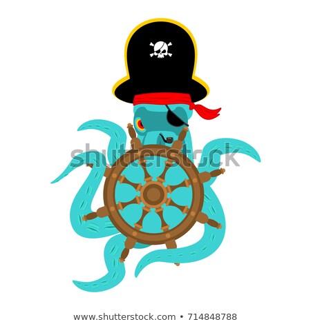 Octopus piraat schedel skelet hoofd Stockfoto © popaukropa