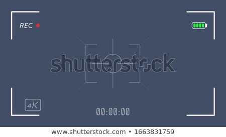 4K video camera viewfinder transparent Stock photo © romvo