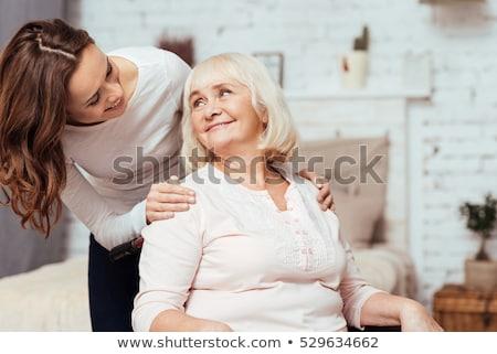 idős · nő · boldog · kerék · autó · nők - stock fotó © FreeProd