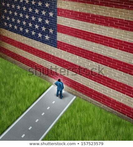 american trade barrier stock photo © lightsource