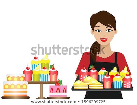 Vrouw aardbei vrouwelijke voeding Stockfoto © IS2