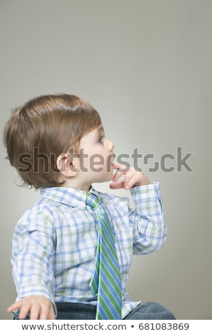 Baby wearing a shirt and necktie Stock photo © IS2