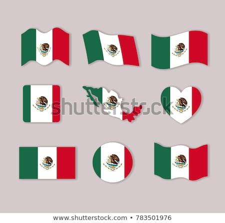 Zdjęcia stock: Serca · banderą · Meksyk · grunge · 3d · ilustracji · podróży