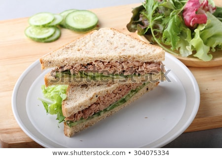 tuna and vegetable sandwich Stock photo © M-studio