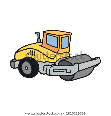 Stock photo: Steamroller hand drawn sketch icon.