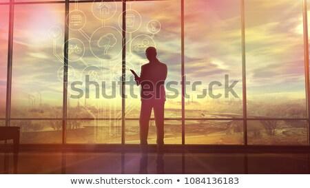 окружающий силуэта человека служба Сток-фото © ConceptCafe