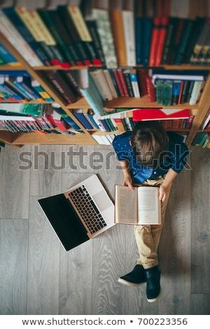 開いた本 本棚 ライブラリ 図書 表 ストックフォト © wavebreak_media