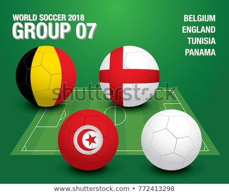 Panamas Flag Football - Soccer Ball Stock photo © nazlisart