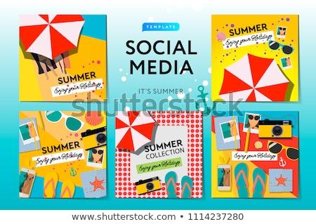 moderne · promotie · vierkante · web · banner · social · media - stockfoto © ikopylov
