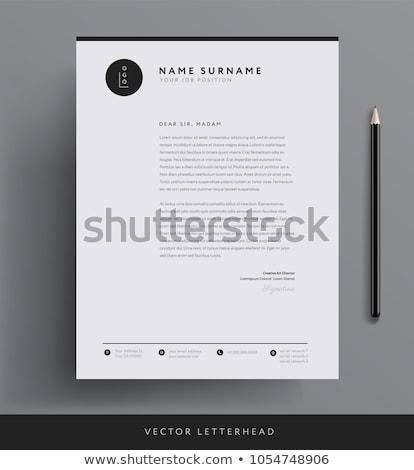 minimal white letterhead design template Stock photo © SArts