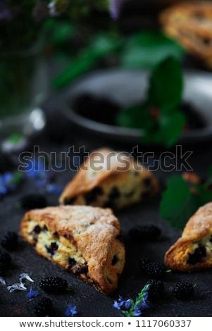 Mulberry Scones.style vintage Stock photo © zoryanchik