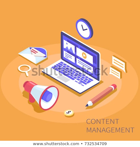 CMS flat isometric vector concept. Stock photo © TarikVision