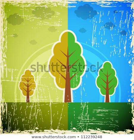 Dzień ziemi ilustracja streszczenie naszywka tekstury planety Zdjęcia stock © articular