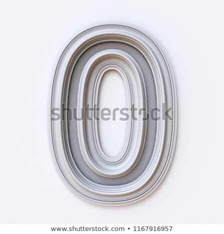 White picture frame font Number 0 ZERO 3D Stock photo © djmilic