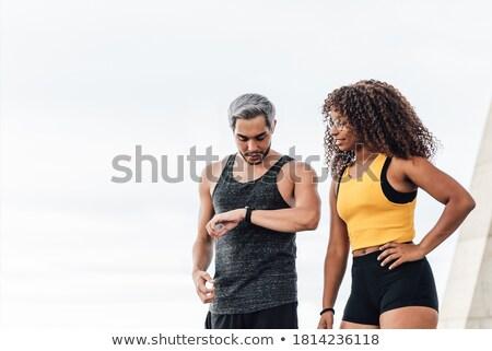 Para uśmiechnięty człowiek kobieta Zdjęcia stock © Kzenon