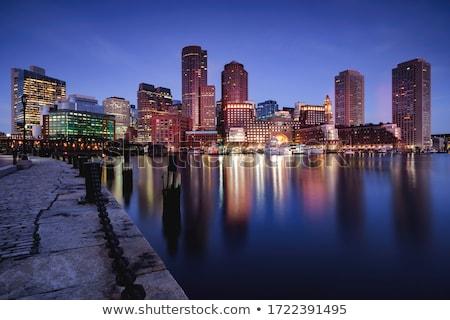 Boston · centro · de · la · ciudad · panorama · panorámica · imagen · cielo - foto stock © terriana