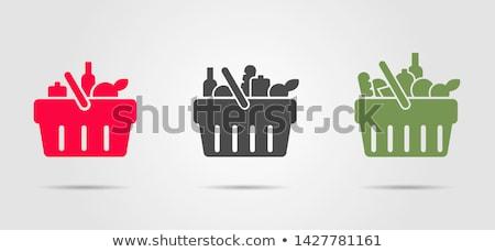 alimentos · comestibles · pegatinas · ilustración · establecer · vino - foto stock © olegtoka