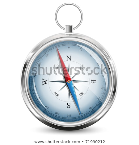 Glossy Compass with windrose. Vector Illustration Stock photo © olehsvetiukha