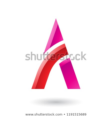 Rouge magenta lettre bâton vecteur illustration Photo stock © cidepix
