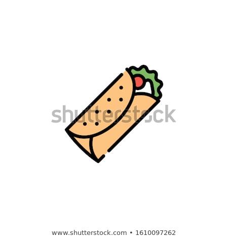 быстрого · питания · неоновых · баннер · дизайна · меню · поощрения - Сток-фото © tele52