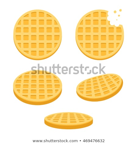 vector belgium round waffle  Stock photo © freesoulproduction