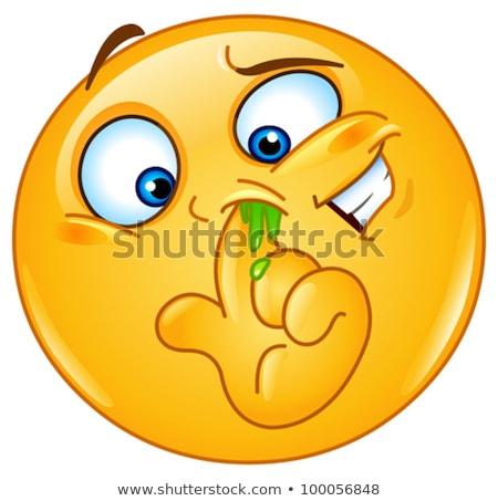 носа смайлик лице человека счастливым Сток-фото © yayayoyo