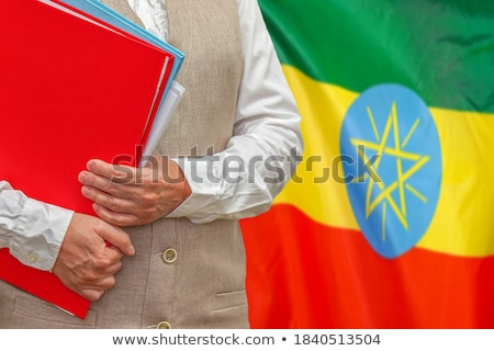 Folder with flag of ethiopia Stock photo © MikhailMishchenko