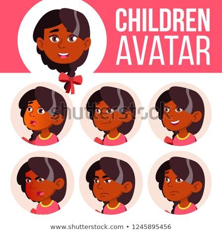 Indiai lány gyermek gyerek vektor ázsiai Stock fotó © pikepicture