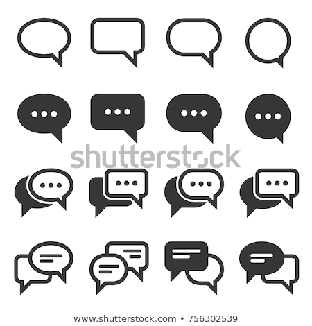 mobiele · scherm · messaging · vector · chat · bubbels - stockfoto © pikepicture