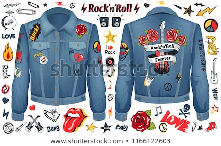 Rock and Roll Forever Denim Jacket Color Concept Stock photo © robuart