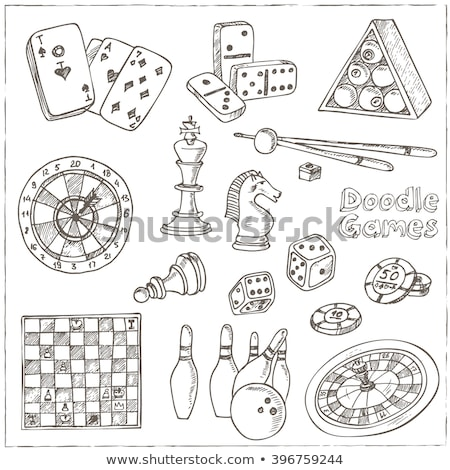 doodle sketch vector pawn chess Stock photo © vector1st