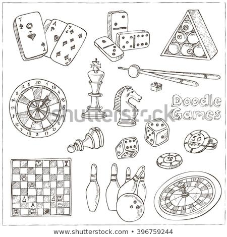 Garabato boceto vector peón ajedrez arte Foto stock © vector1st