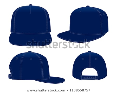 Baseball cap vector illustration on dark background. Mock-up design Stock photo © m_pavlov
