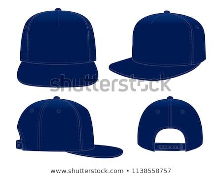 vector · ilustración · blanco · béisbol · sombrero - foto stock © m_pavlov
